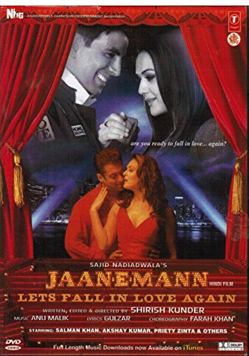 Jaan-E-Mann (Dvd) New Single Disc Dvd, Hindi Language, With English Subtitles, Released By T-Series (Jaan E Mann)