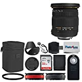 Sigma 17-50mm f/2.8 EX DC OS HSM Zoom Lens for Nikon DSLRs with APS-C Sensors + Wireless Remote + 32GB Memory Card + Memory Card Wallet + Card Reader + 77mm UV Filter + 2x Lens Band + Cleaning Cloth