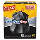 CLO70358 - Drawstring Forceflex Large Trash Bags, 30 X 32, 30gal, 1.05mil, Black, 70/case