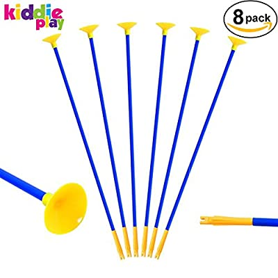 Kiddie Play Replacement Suction Cup Arrows for Archery Set for Kids (8 Pack)