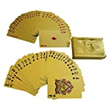 yh - 24K Gold-Foil Plated Playing Cards Poker Table Games by YH Poker