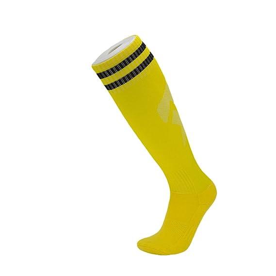 Kairuun Hombre Mujer Niños Long-barreled Rayas Calcetines de Fútbol Baloncesto Deportes Calcetines de Algodón