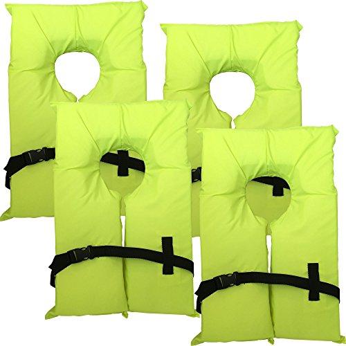 Hardcore Water Sports 4 Pack Type II Neon Yellow Life Jacket