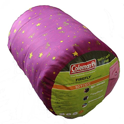 Coleman 키즈용 침낭 핑크 152×66cm 파이어 플라이
