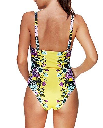 Push Up Intero Un Floreale Costume Donne Pezzo Bikini Bagno Costume Da Pw7BIqp