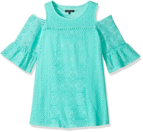My Michelle Big Girls' Cold Shoulder Crochet Dress with N...
