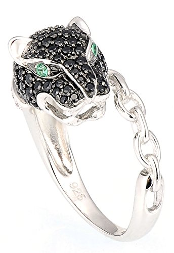 Chariot Trading - Rings for Woman Black Spinel Cubic Zirconia (SIZE : 9) (Belly Dance Costumes Clearance)
