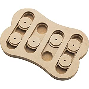 SPOT Ethical Pet Interactive Seek-A-Treat Shuffle Bone Toy Puzzle That Will Improve Your Dog's IQ, Specially Designed for Training Treats