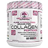 Collagen Peptides Powder Pure Hydrolyzed – Non GMO Grass Fed Pasture Raised Bovine Hide Premium Quality Protein – Gluten Free Paleo/Keto Friendly 17.64oz Supplement Healthy Skin Hair Nails Best Value