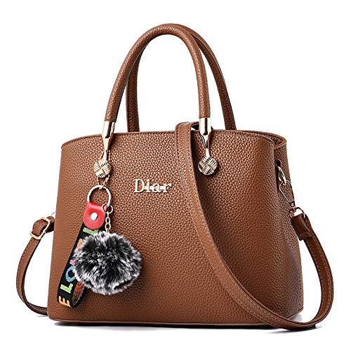 Brown Cosmetici FlhtBorsa In Pu Piccola Donna Pelle Grande Messenger Bag Capacità FemminileDa Tracolla Shopping Viaggio Lavoro DHI2E9