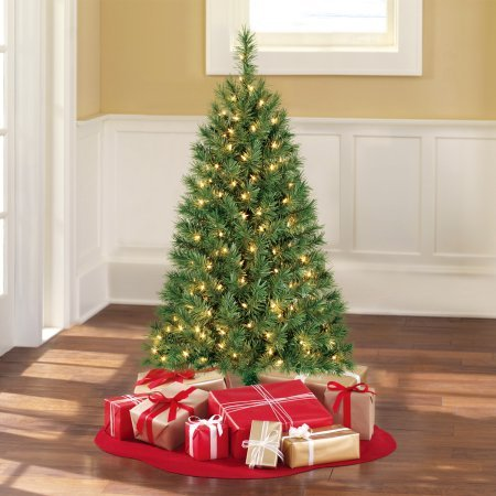 Artificial X-mas Tree 4' Indiana Spruce Green, Clear-Lights Spruce Christmas Trees
