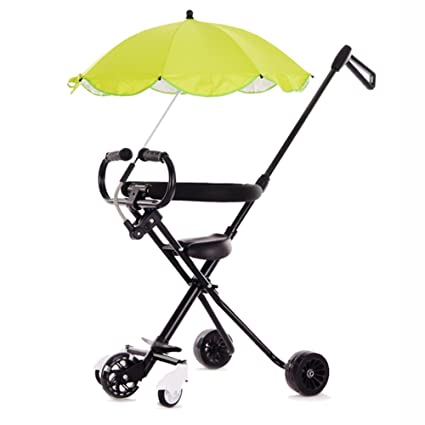 167ce17d59d Tricycles 5 Wheels Baby Stroll Artifact With Umbrella Children Trolley  Folding Lightweight Portable Tourism Kids Trike