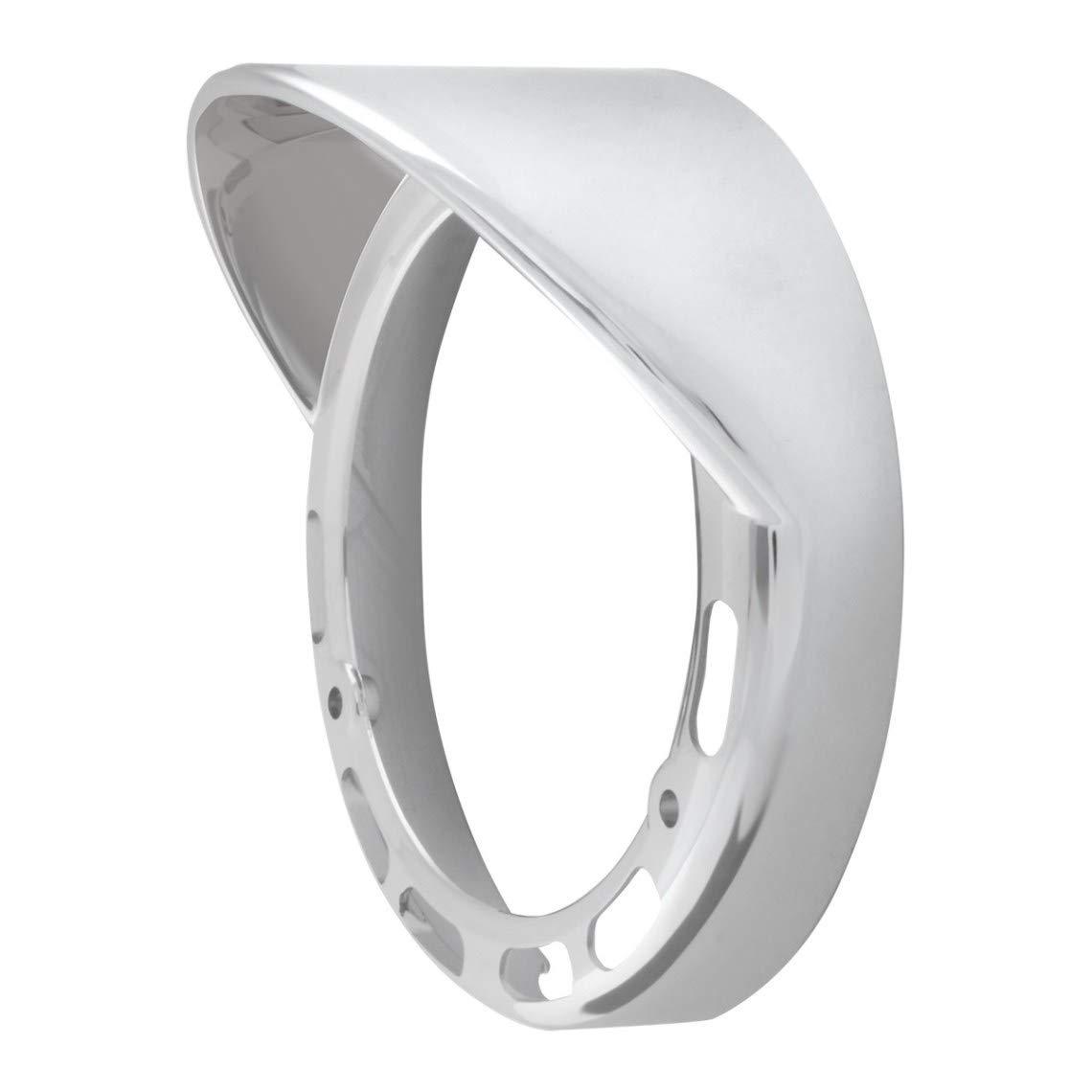 GG Grand General 78368 Chrome Plastic Rim w//Visor for 4 Inches Turn LED Light Light Up