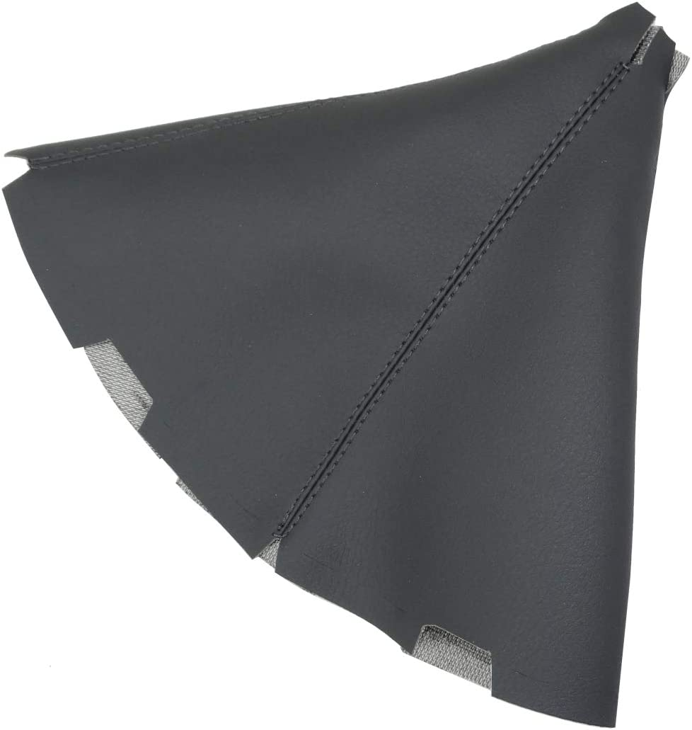 Gaiter cover for gear lever of faux leather dark grey AERZETIX
