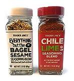 Trader Joe's Seasonings Bundle - Everything But The Bagel Sesame and Chile Lime Seasoning Blends
