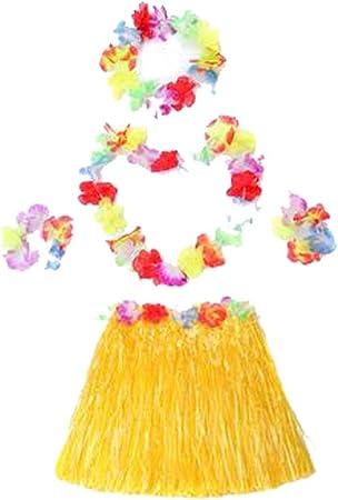 Black Temptation Disfraces para niños Falda de Baile Hawaiana ...