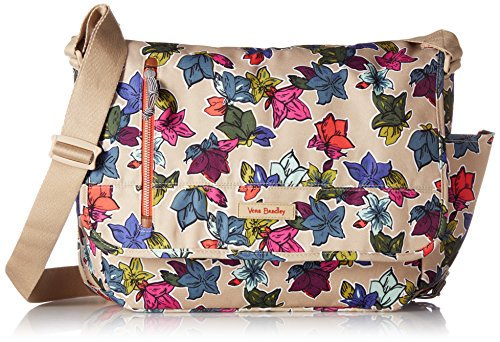 Lighten Up Laptop Messenger Messenger Bag, Falling Flowers Neutral, One Size ()