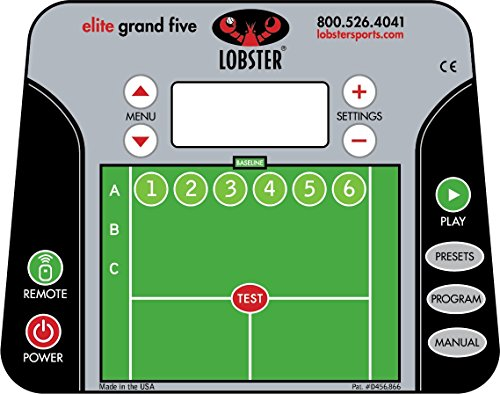 lobster sports elite 1 portable tennis machine