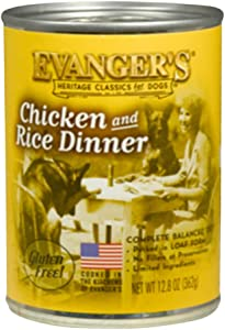 Evangers Classic Chicken And Rice Dinner For Dogs, 12 Pack, 13-Ounce Cans (10118)