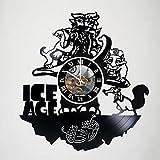 KravchArt Ice Age - Movie - Handmade Art Vinyl Record Wall Clock - Artwork Gift Idea for birthday, christmas, women, men, friends, girlfriend boyfriend and teens - living kids room nursery
