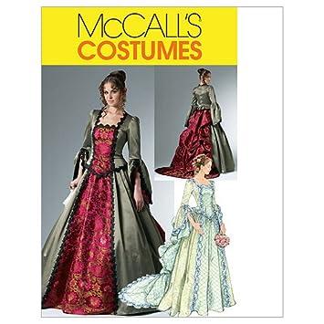 【McCall】コスチューム ビクトリア朝ドレス型紙セット サイズ:US6,8,10