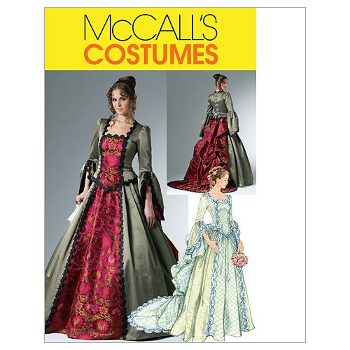 Mccalls Costumes Patterns (McCall's Patterns M6097 Misses' Victorian Costume, Size AA)