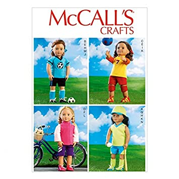 McCall \'s Crafts Schnittmuster 6904 Puppe Kleidung Sportswear + ...