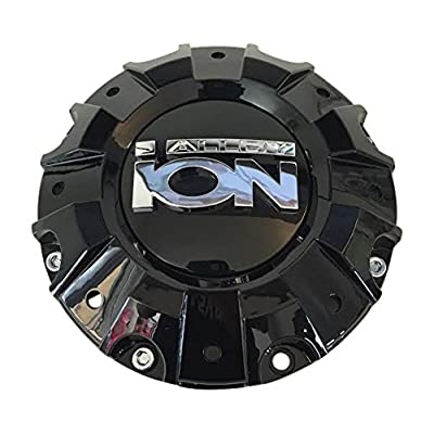 Ion Alloy Wheels C-218-2 C1019401B Gloss Black Wheel Center Cap: Automotive