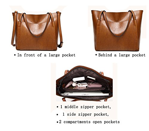 Handbags Messenger Handle Satchel Black Purse Hobo Obosoyo Shoulder Women Lady Tote Bag Top FqHPxOY
