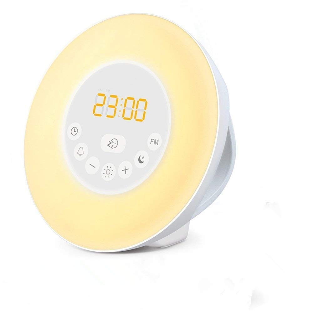 Alarm Clock Wake Up Light Meerveil Led Night Light Bedside