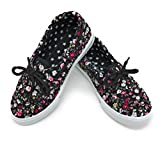 Blue Berry EASY21 Baby Toddler Girs Canvas Casual Sneaker Shoes,Black Floral82,3 M US Little Kid