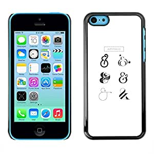 PC/Aluminum Funda Carcasa protectora para Apple Iphone 5C all is 8 eight / JUSTGO PHONE PROTECTOR