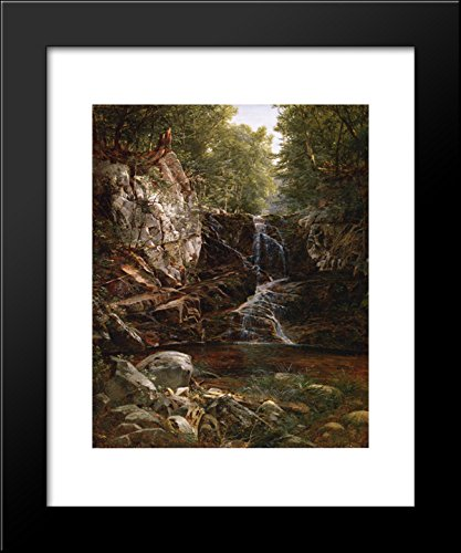 Indian Print David - Indian Falls 20x24 Framed Art Print by David Johnson
