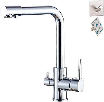 Küche Armatur 3 Wege Wasserhahn für Osmose Anlage Wasserfilter Mischbatterie NEU
