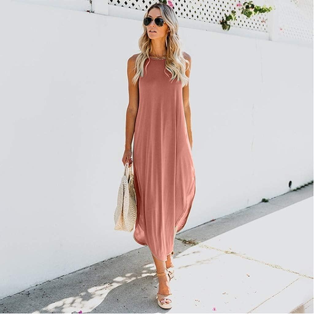 COOKI Women Dresses Casual Loose Sleeveless Oversized Split Maxi Dress Summer Beach Long Dress Plus Size Dress