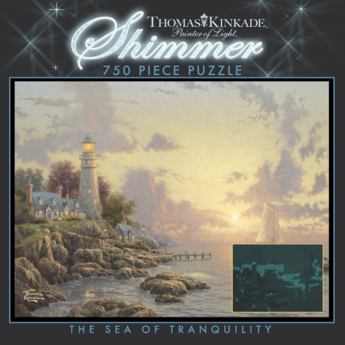 750 Piece Thomas Kinkade Shimmer-The Sea of Tranquility