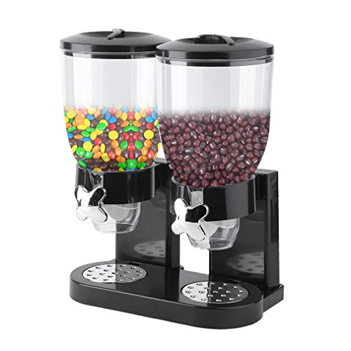Homgrace Dry Food Dispnser, Compact Dual Control Cereal & Dry Food Dispnser Countertop Cereal