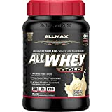 ALLMAX Nutrition All whey gold, 100% whey protein premium whey protein isolate, 2