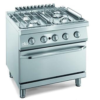 Encimera de cocina piso 4 quemadores de gas horno cm 80x70x85 ...