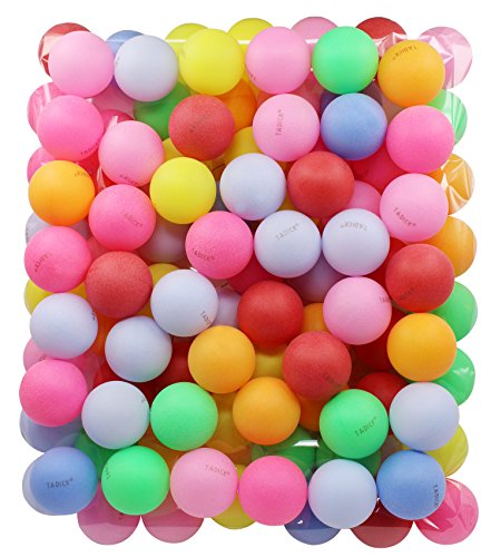 Cheapest Prices! TADICK Beer Ping Pong Balls Plastic Multiple Color Table Tennis Ball (100 Pack)