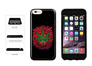 Colorful Dope Psychedelic Weed Leaf Art TPU RUBBER Phone Case Back Cover Apple iphone 4 4s ( es screen) includes fashion case Cloth and Warranty Label