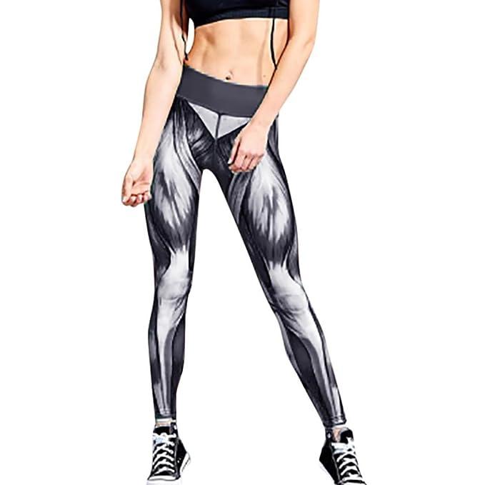 DOGZI Mujer Yoga Pantalones Casual Pantalones de Vestir Elegante Pantalones de Pinza Negocios Palazzo Pantalon Estampado