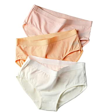 393b462763a lingirl Women s Invisible Soft Underwear Middle-Waisted Sexy Cotton Healthy  Panties Pack of 5 7