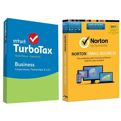 TurboTax Business 2015 Federal + Fed Efile Tax Preparation Software - PC Disc with Norton Small Business - 10 Device