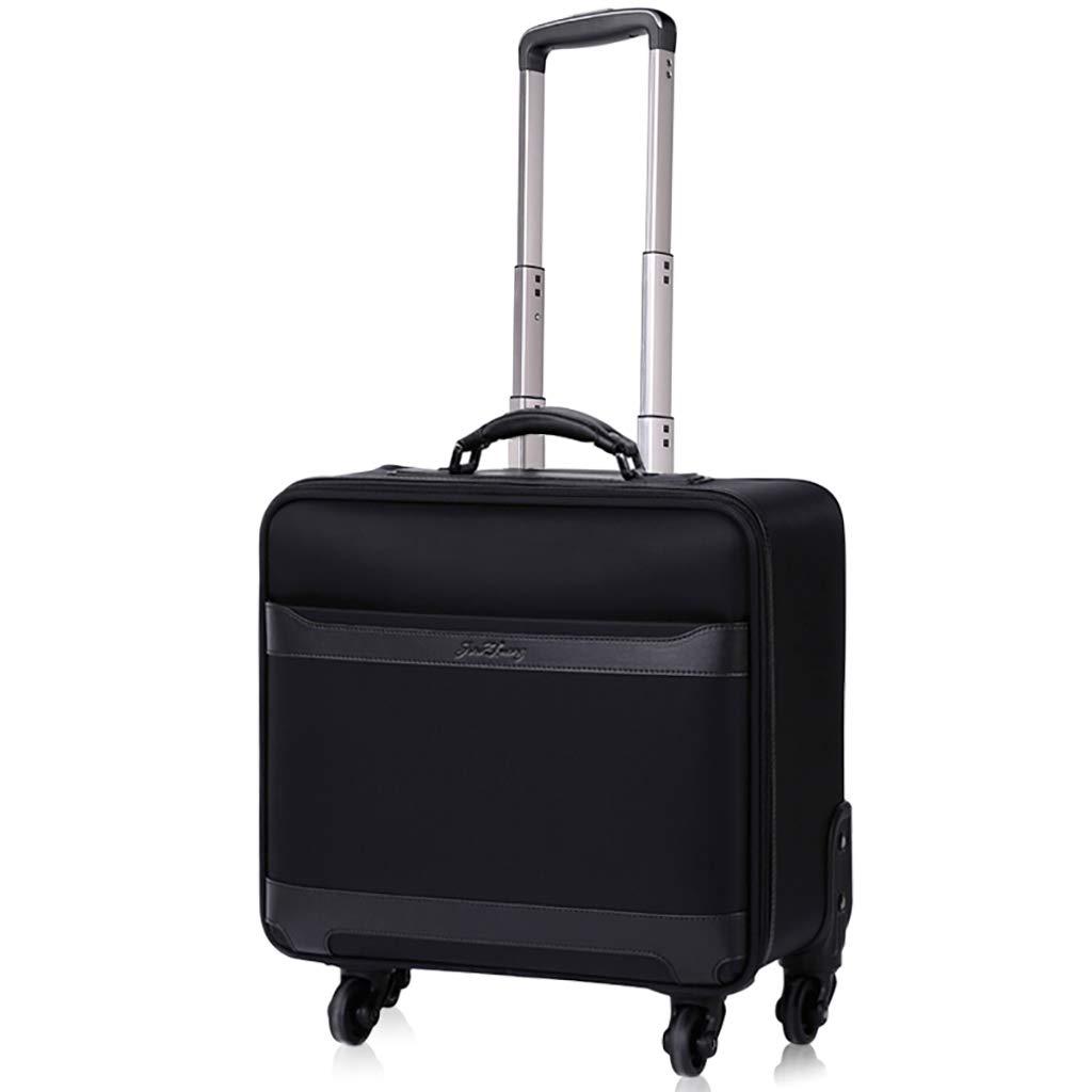 ソロブライアントローリングラップトップケース、ビジネストラベルバッグ、荷物用トロリー、ブラック、2サイズ 46*23*44cm  B07JWF4G8J
