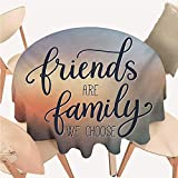 cobeDecor Family Dinning Tabletop Decoration Friends are Famly We Choose Inspirational Phrase Fashion