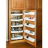 Rev-A-Shelf 6235-22-52 6265 Series 22″ D-Shaped Lazy Susan 5 Shelf Set, White