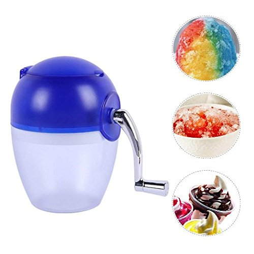 (Hand-operated ice machine, home mini ice crusher, portable manual crank crushed ice, household snow cone frozen drink)