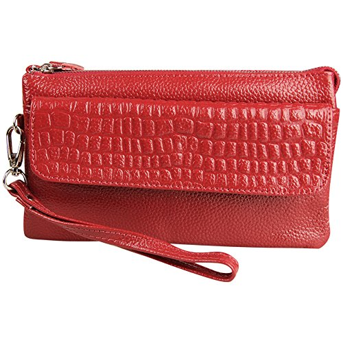 with Handbag Bag Cckuu Shoulder Adjustable Coffee Red Clutch Strap Ladies Large Wristlet EX1qYxFq