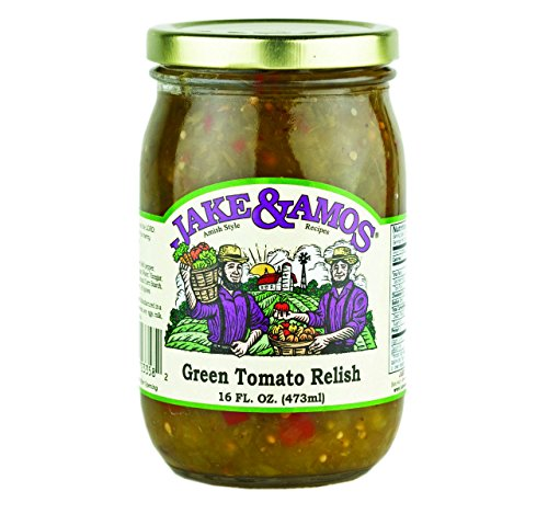 Jake & Amos Green Tomato Relish, 16 Oz. Jar - Hot Green Tomato